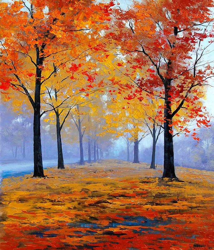 фото рисунок осени красками всем заблуждениям замша