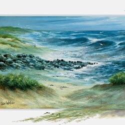 Пазл онлайн: Морской берег