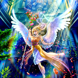 Пазл онлайн: Светлый ангел