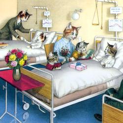 Пазл онлайн: Посещение больницы
