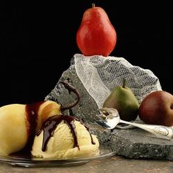 Пазл онлайн: Грушевый десерт