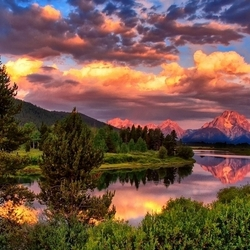 Пазл онлайн: Национальный парк Гранд-Титон, США