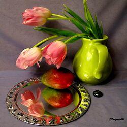 Пазл онлайн: Тюльпаны и манго