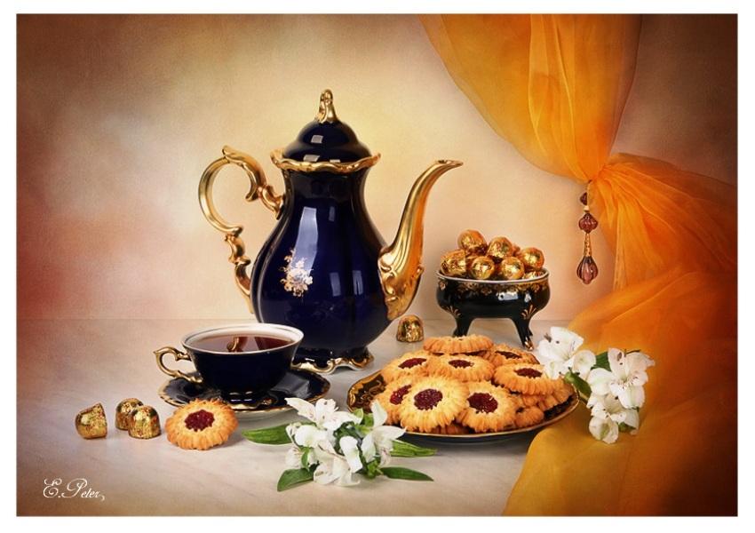 Желать, красивые открытки чаепитие