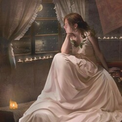 Пазл онлайн: У ночного окна