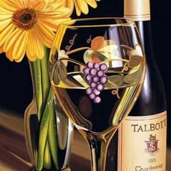 Пазл онлайн: Вино и цветы