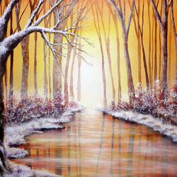 Пазл онлайн: Зимний свет