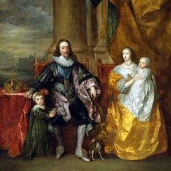 Пазл онлайн: Карл I и королева Генриетта Мария с детьми