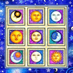 Пазл онлайн: Солнце и Луна