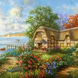 Пазл онлайн: Ухоженный сад