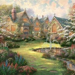 Пазл онлайн: Садовое поместье