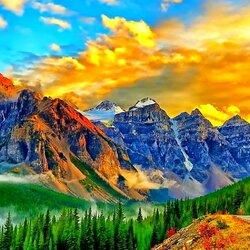 Пазл онлайн: Вершины гор