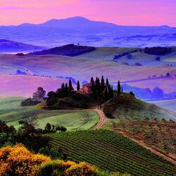 Пазл онлайн: Вечер в Тоскане