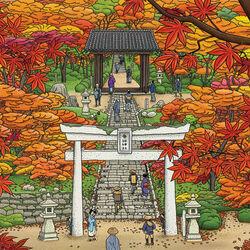 Пазл онлайн: В храме осенью