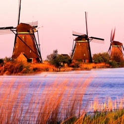 Пазл онлайн: Ветряные мельницы