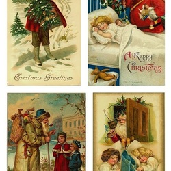 Пазл онлайн: Рождественские открытки