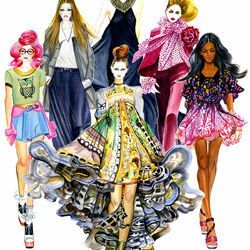 Пазл онлайн: Стильные девушки
