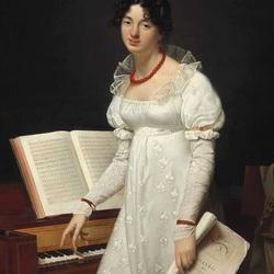 Пазл онлайн: Портрет дамы у фортепиано