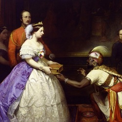 Пазл онлайн: Королева Виктория и принц Альберт