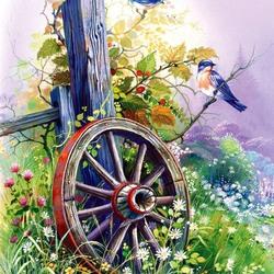 Пазл онлайн: Старое колесо