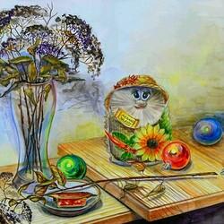 Пазл онлайн:  Цветы и шарики
