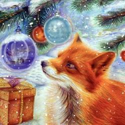 Пазл онлайн: Лиса и подарки