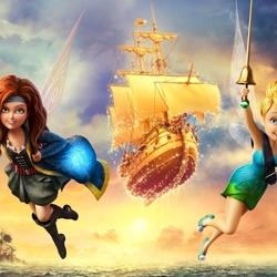 Пазл онлайн: Феи против пиратов