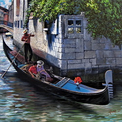 Пазл онлайн: Романтическая прогулка в Венеции