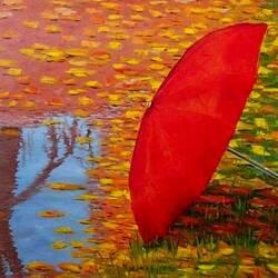 Пазл онлайн: Забытый зонт