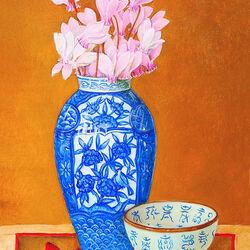 Пазл онлайн: Натюрморт в японском стиле