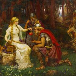 Пазл онлайн: Идун - богиня весны