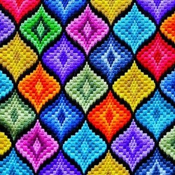 Пазл онлайн: Вышивка