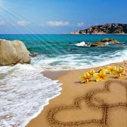 Пазл онлайн: Рай для двоих