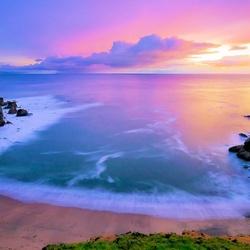 Пазл онлайн: Розовый рассвет
