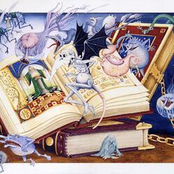 Пазл онлайн: Магические книги