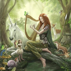 Пазл онлайн: В волшебном лесу