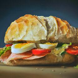 Пазл онлайн: Вкусный сэндвич