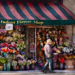 Пазл онлайн: Цветочный магазин Хадсон