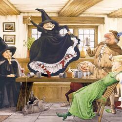 Пазл онлайн: Ведьмы