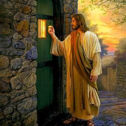 Пазл онлайн: Се, стою у двери