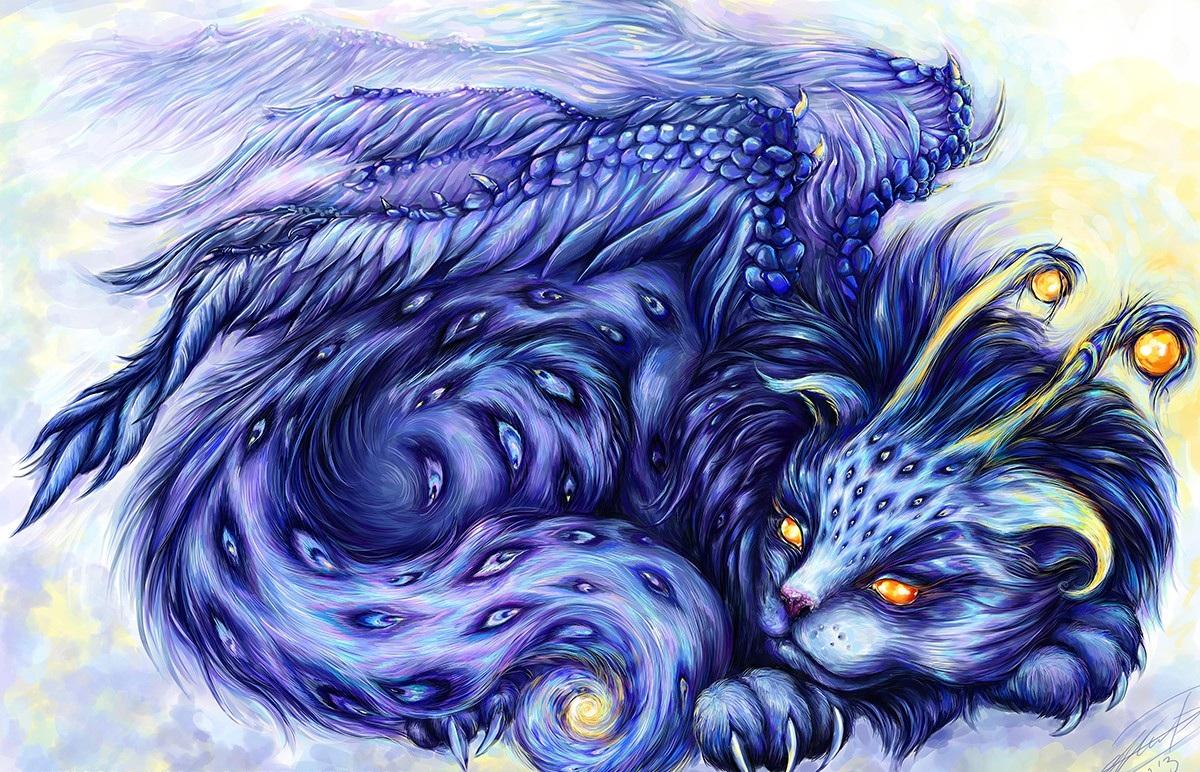 мифические существа коты шариковых моделях при