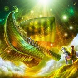 Пазл онлайн: Летучий корабль