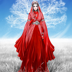 Пазл онлайн: Красное и белое