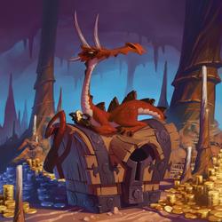 Пазл онлайн: Скупой дракон