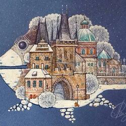 Пазл онлайн: Зимняя Прага