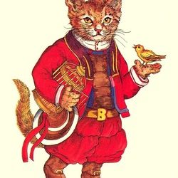 Пазл онлайн: Викторианские кошки