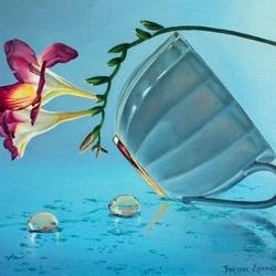Пазл онлайн: Опрокинутая чашка