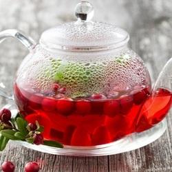 Пазл онлайн: Брусничный чай
