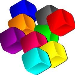 Пазл онлайн: Кубики