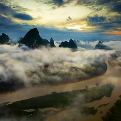 Пазл онлайн: Утренний туман